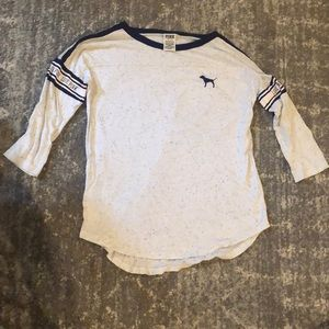 Pink Victoria's Secret small tee quarter sleeves